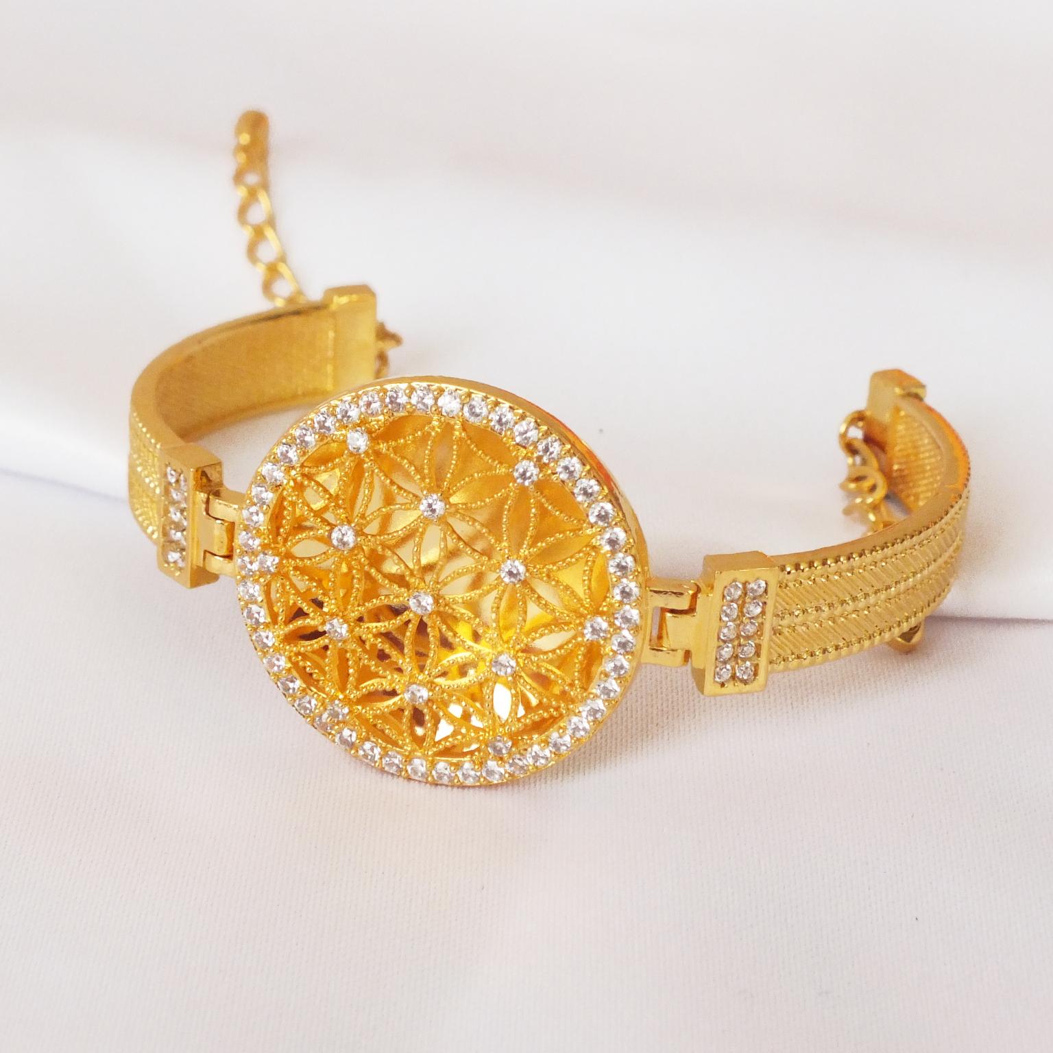 Altın Kaplama Kelepçe Yaşam Çiçeği BLZ-11