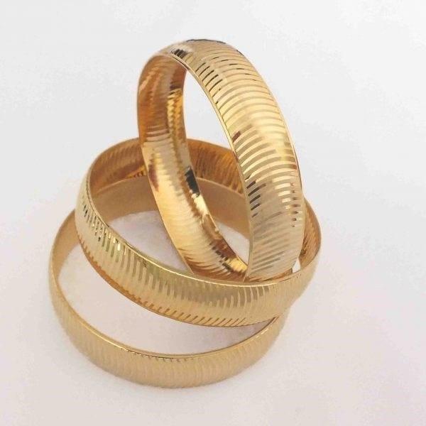 Altın Kaplama Bilezik 15mm Kalınlık