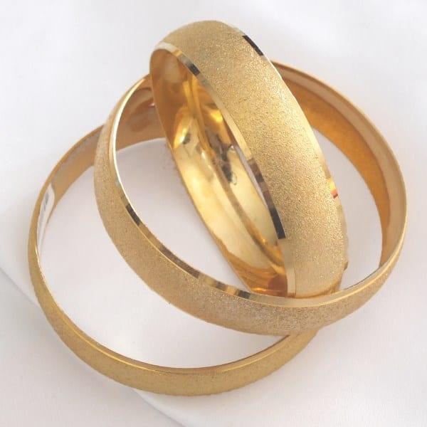 Altın Kaplama 1.5 cm Kadın Simli Bilezik